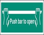 Picture of PUSH BAR TO OPEN