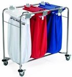 Picture of 3 BAG S/STEEL LAUNDRY CART LC2000-3-SP