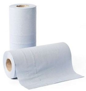 "Picture of BLUE 2PLY 10""COUCH ROLLS 40M 1X18"