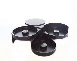 Picture of GLASS RIMMER 3 TIER BLACK EACH