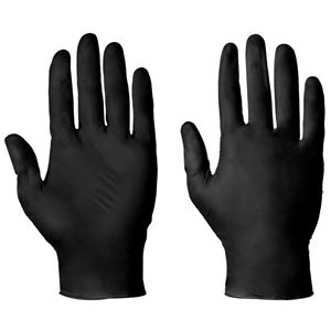 Picture of 12073 LGE BLACK P/F NITRILE DISP GLOVES